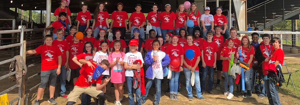 Student Council and Honor Society helping out at the Handicapable Rodeo.