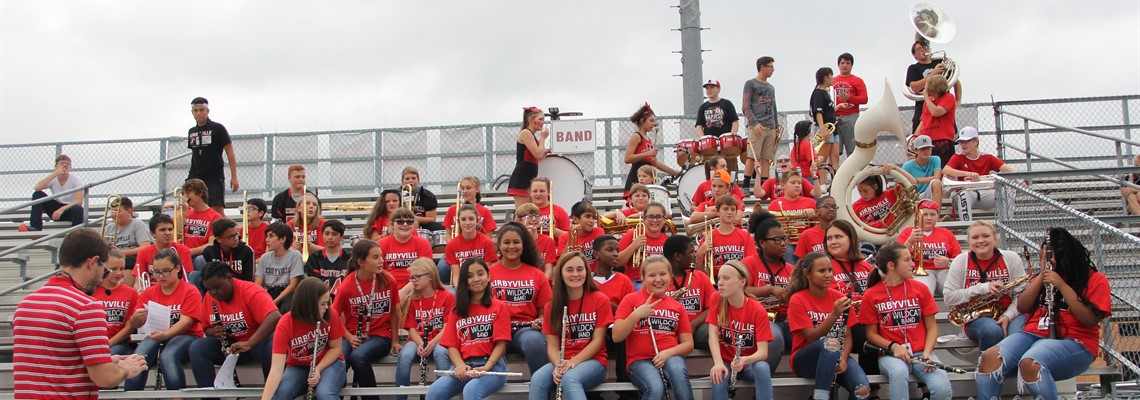 KJH Band ready to play at the football game