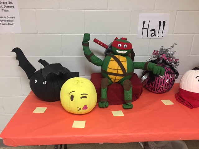 Pumpkins from Mrs. Hall's class